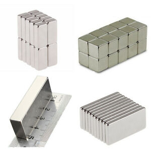50 100 Pcs Magnets Block Cube Rare Earth Neodymium Magnetic N50 N48 N52 All Size