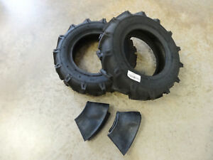 Two New 5 00 12 Starmaxx Tr 60 Lug Compact Farm Tractor Tires Tubes R1