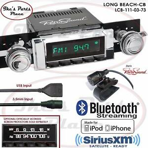 Retrosound Long Beach Cb Radio Bluetooth Ipod Usb 3 5mm Aux In 111 03 Chevy