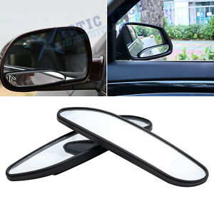 2x 360 Wide Angle Convex Rear Side View Blind Spot Mirror Universal Fit Car