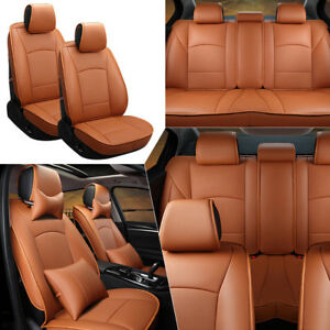 Us Full Set Car Seat Cover For Ford F 150 2010 18 Pu Leather Front rear Cushion