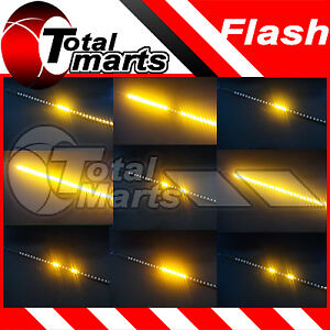 4x 12 Car Truck Knight Rider Led Decoration Strobe Flash Strip Light Amber