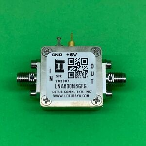 Broadband Low Noise Amplifier 0 9db Nf 600m 6ghz 21db Gain 2db Flat Gain