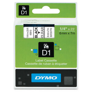 Dymo Dym43610 Labelmanager 160 D1 Label Tape 1 4 X 23 Ft Black On Clear