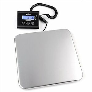 Digital Shipping Postal Scale Ware House Mail Room 330lb Weight Stainless Steel