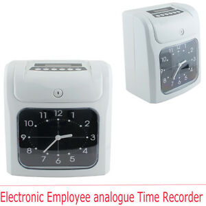 Pro Electronic Employee Analogue Time Recorder Time Clock W card Monthly weekly