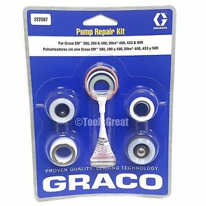 Graco Gm Em 380 390 490 Ultra 400 433 500 Pump Packing Repair Kit 222587