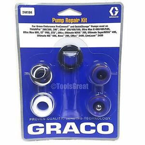 Graco 390 395 495 595 695 Airless Sprayer Pump Packing Repair Kit 244194