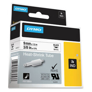 Dymo Dym18053 Rhino 6000 Hard Case Kit Heat Shrink Tube Labels 3 8 X 5 Ft