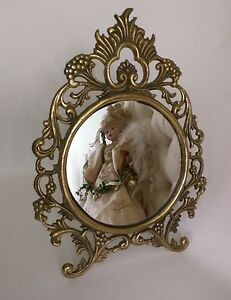 Antique Looking Glass Vanity Mirror With Stand