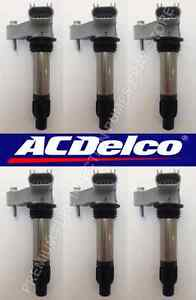 Lot Of 6 General Motors New Acdelco Ignition Coil Oem Premium Quality