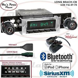 Retrosound Long Beach Cb Radio Bluetooth Ipod Usb 3 5mm Aux In 116 37 Chevy