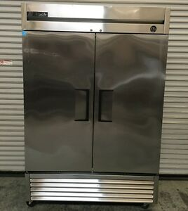 2 Door Reach In Stainless Steel Freezer True T 49f 6822 Commercial Nsf Usa 2013