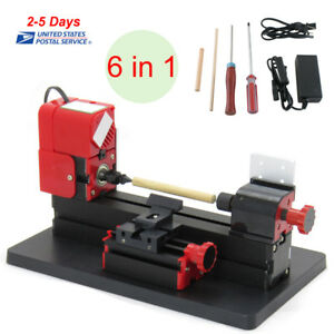 6in1 Micro Lathe Diy Machine Jigsaw Milling Drilling Sanding Wood turning Metal