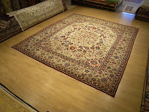 9 9 X 12 Hand Knotted High Quality Antique Persian Oriental Wool Rug Fine Knots