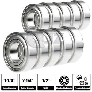 10x Sr20 zz 1 1 4 X 2 1 4 X 1 2 Inch R20 2rs Stainless Steel Ball Bearing Sealed