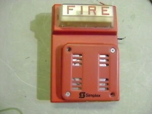 Lot 5x Simplex Fire Alarm Red Horn Strobe Wallmount Combo 4903 9101 2901 9846