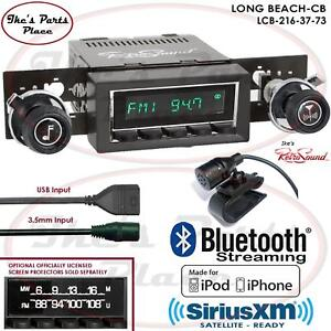 Retrosound Long Beach Cb Radio Bluetooth Usb 3 5mm Aux In 216 37 Chevy C Series