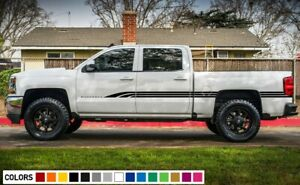 Decal Sticker Vinyl Door Stripes For Chevrolet Silverado 1500 Z71 Sport 4x4 Lift