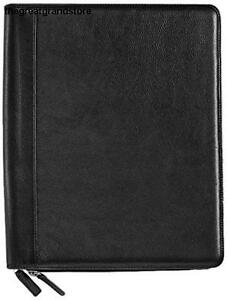 Levenger Executive Zip Folio Letter al12885 Nm Leather Annotation Pad Business