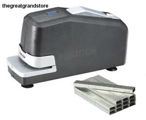 Impulse Electric Stapler Value Pack Staples Storage 3x Stapling Speed Push Style