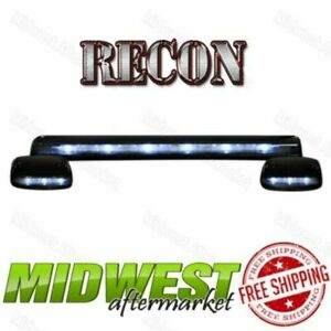 Recon 3pc Smoked Cab Roof Lights White Leds Fits 2007 2013 Silverado Sierra 1500