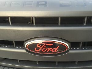 Front Rear Oval Emblem Vinyl Decal Overlays 11 12 13 14 15 Ford F350 Super Duty