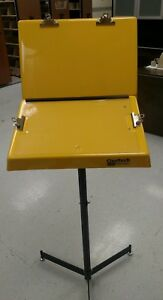 Qualtech hubbell Document Stand With Two Panels 26 w X 20 d X 61 h Yellow