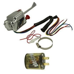 12v Street Hot Rod Turn Signal Switch Chrome Universal For Gm Ford With Flasher