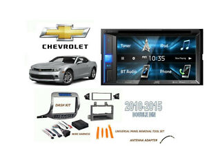 Double Din Car Stereo Kit 2010 2015 Chevrolet Camaro Bluetooth Usb Touchscreen