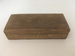 Antique Vintage Collectible Empty Wooden Cigar Jewelry Box 6 5 X 3 X 1 5