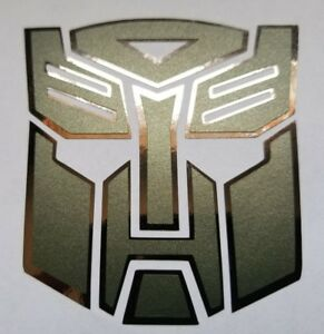 Transformers Optimus Prime Autobots Decal Sticker Satin Military W Black Chrome