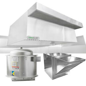 Hoodmart 8 x48 Type 1 Commerical Kitchen Hood System W Psp Makeup Air