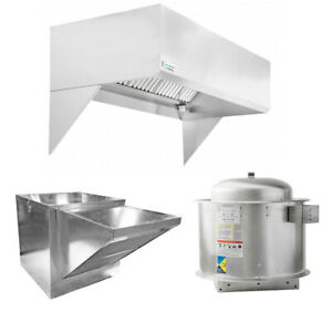 Hoodmart 4 x48 Restaurant Type 1 Commercial Kitchen Hood System W Makeup Air
