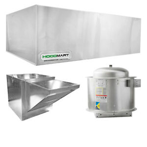 Hoodmart 10 x48 Restaurant Type 1 Commercial Kitchen Hood System W Makeup Air