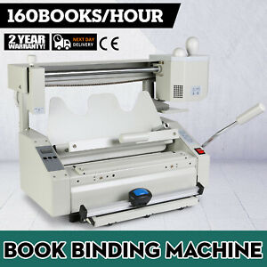 New 4 In 1 Hot Melt Glue Book Binder Perfect Binding Machine A4 Size 220v T