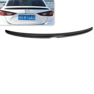 Rear Roof Trunk Lip Spoiler Wing Black Style Fit Mazda 3 Axela Bm 14 18 Sedan