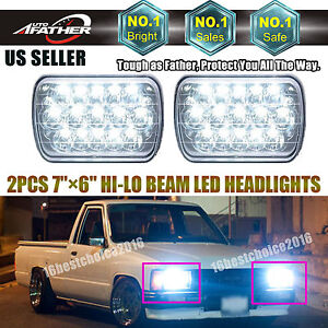 2x H6054 7 X6 Led Headlight Sealed Beam Square Headlamp For Toyota Pickup Truck