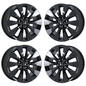 17 Honda Accord Black Chrome Wheels Rims Factory Oem 2014 2015 Set 4 64047