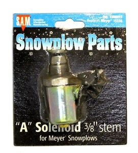 A Solenoid Coil And Valve 3 8 Stem Snow Plow Meyer 15356 Part 1306015