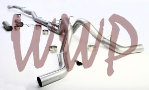 Stainless Dual 5 Downpipe Back Exhaust 15 5 17 Chevy Gmc Gm Duramax 6 6l Turbo