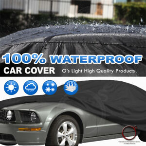 Universal Fit Car Cover Water Resistant Uv Sun Snow Dust All Weather Protect