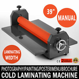 39 1000mm Manual Cold Roll Laminator Vinyl Photo Film Laminating Machine Poster