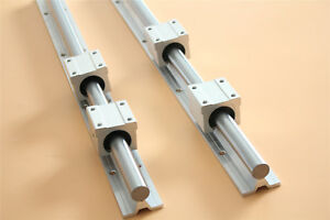 Linear Bearing Support Rail 2pcs Sbr16 600 Cnc Linear Motion 4pcs Sbr16uu