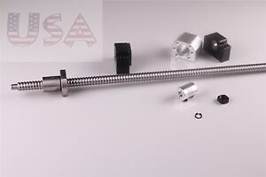 Sfu1605 1000mm Ball Screw End Machined With Nut bk12 bf12 coupler Cnc Parts