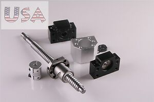 Sfu1605 300mm Ball Screw End Machined With Nut bk12 bf12 coupler Cnc Parts