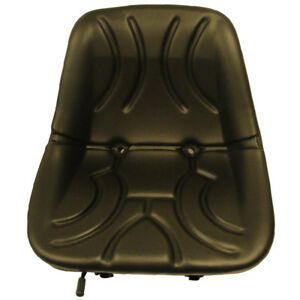 Tractor Seat 15 Low Back Bucket Style Seat Metal Pan W Drain