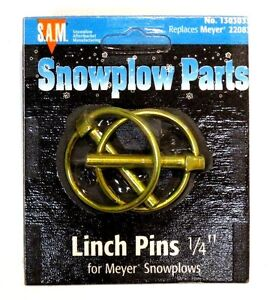 Linch Pins 1 4 Set Of 2 Snow Plow Meyer 22083 Part 1303033