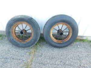 John Deere Styled D Tractor F h Front Round Spoke Rims W Tires Hc234a 00637