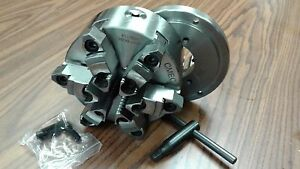 6 6 jaw Self centering Lathe Chuck W Top bottom Jaws W D1 4 Adapter new